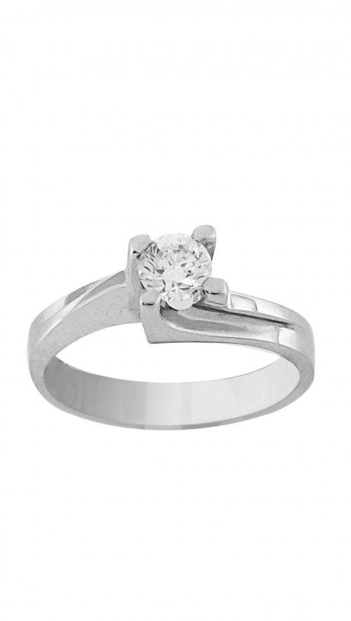 Δαχτυλίδι μονόπετρο λευκόχρυσο 18 καράτια με μπριγιάν 0.47ct ... d0c41378d02