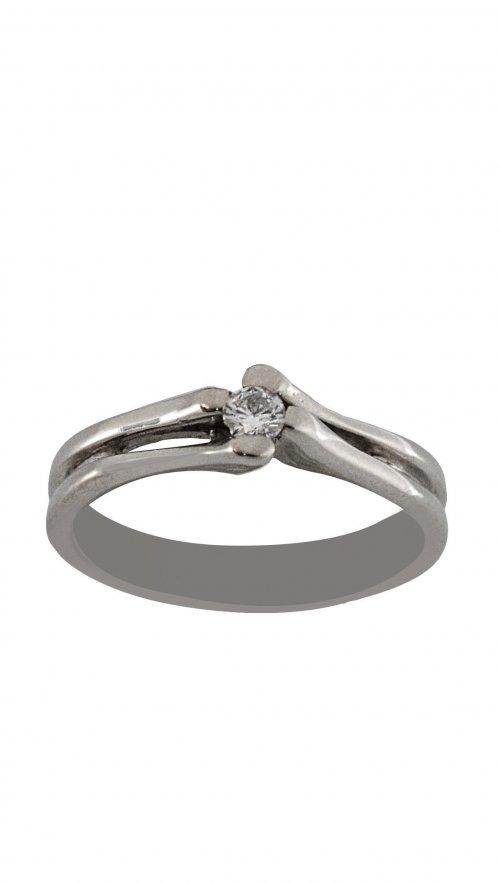 Δαχτυλίδι μονόπετρο λευκόχρυσο 18 καράτια με μπριγιάν 0.09ct ... 22630d6dbc6