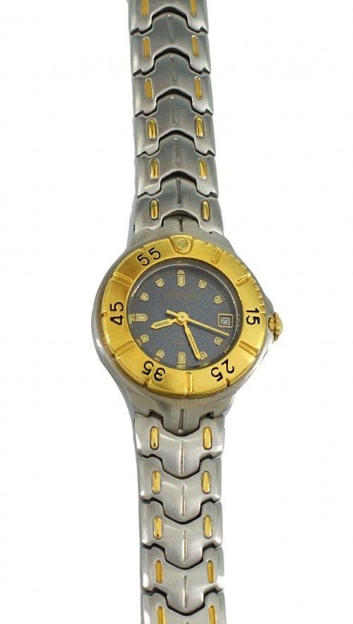 Ρολόι Dissoni με ασημί μπρασελέ και ημερομηνία DS100  00ebc9b346c