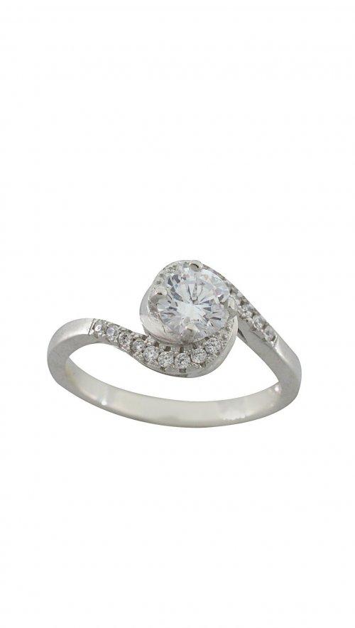 2d5f2c24b6 Δαχτυλίδι ασήμι 925 μονόπετρο με ζιργκόν 5 χιλιοστά