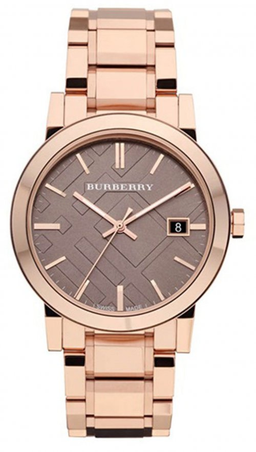 Ρολόι Burberry με ροζ χρυσό μπρασελέ BU9005  f97ae45a208