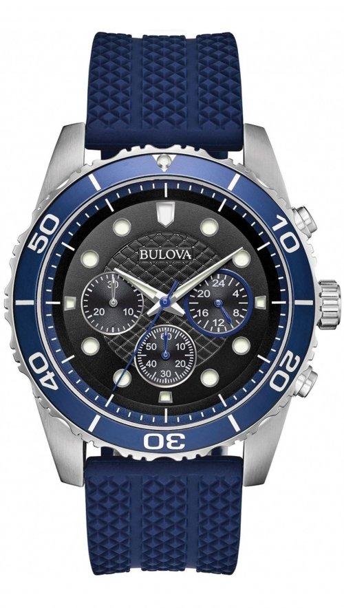 Bulova Sport Marine Star chronograph blue watch 98A190  50b579d98b2