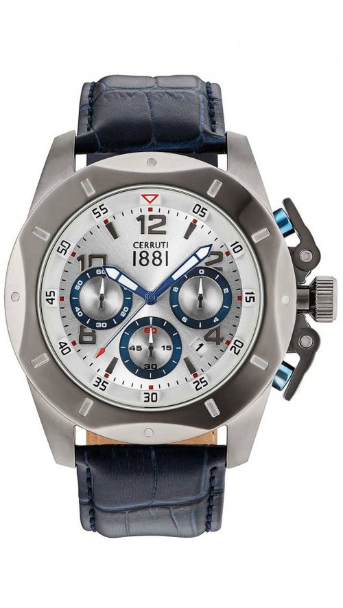 c09db32d749 Cerruti Pusiano chronograph blue watch CRA182SU04BL | Watchmarket.gr