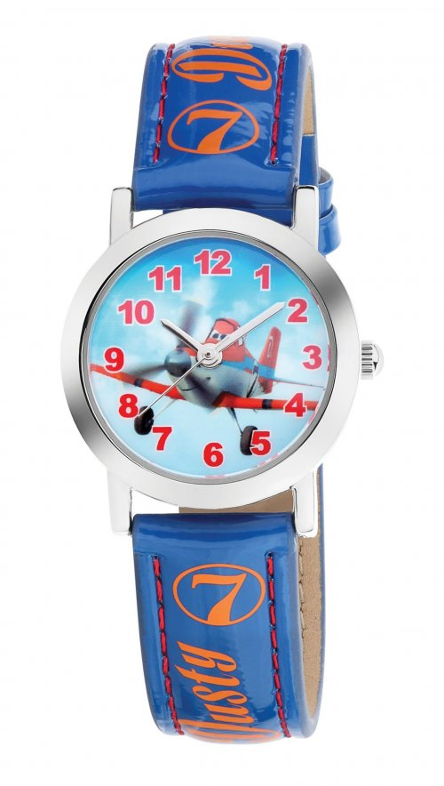 am:pm blue watch with Disney airplanes DP140-K273