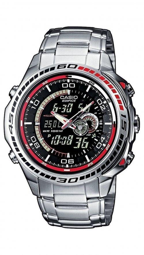 Ρολόι Casio Edifice χρονογράφος με ασημί μπρασελέ EFA-121D-1AVEF ... 9b112f712ba
