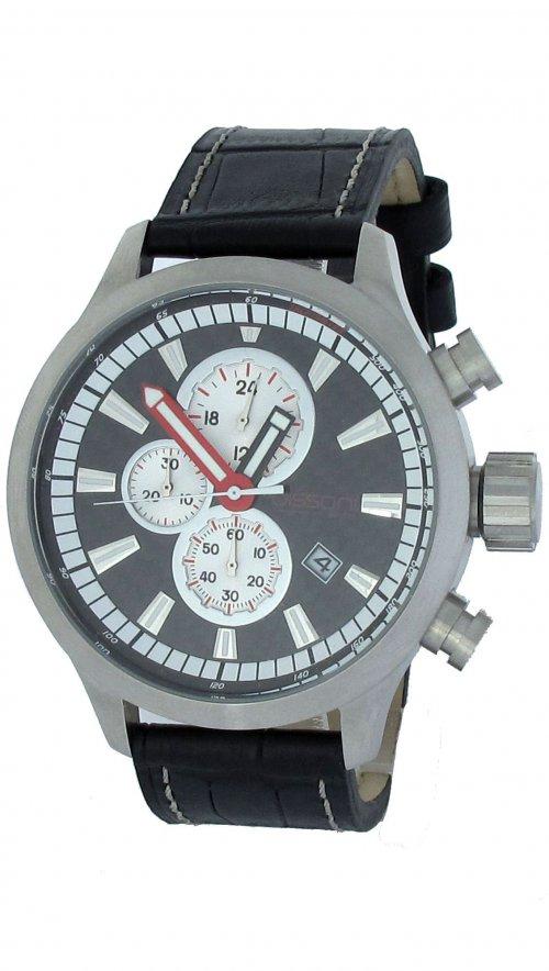 Ρολόι Dissoni χρονογράφος με μαύρο λουράκι D806  4405e8706ec