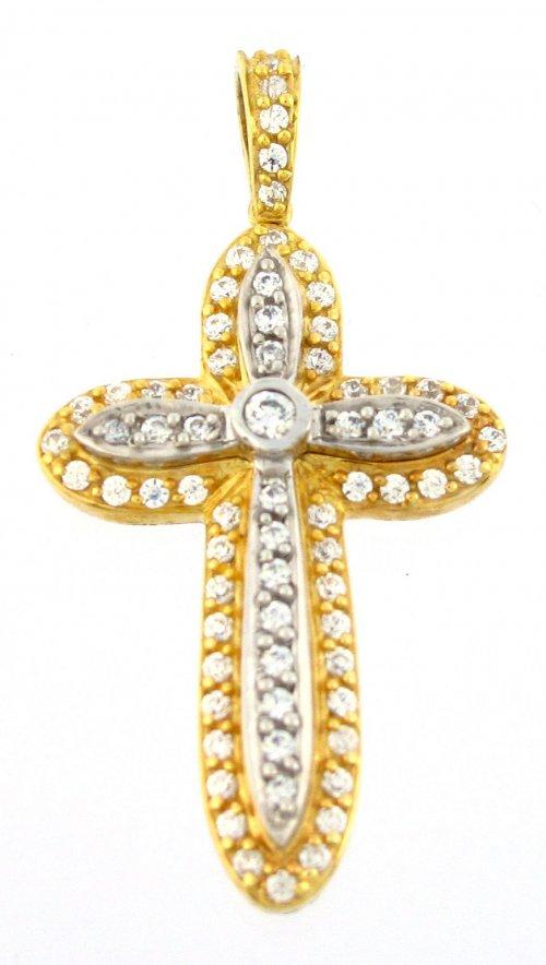 c8ce54c752 Σταυρός Facad oro χρυσός 14 καράτια με ζιργκόν