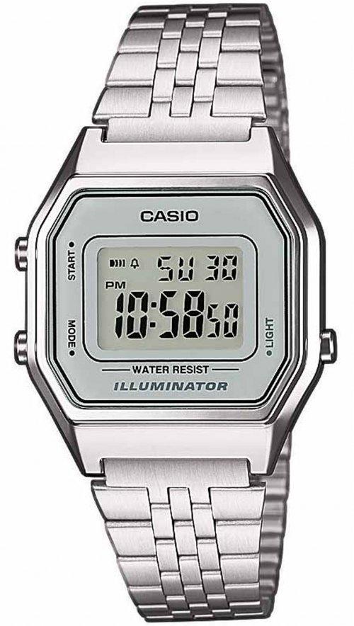 Γυναικείο ρολόι Casio Collection ψηφιακό με ασημί μπρασελέ LA-680WEA ... ee7be1236cc