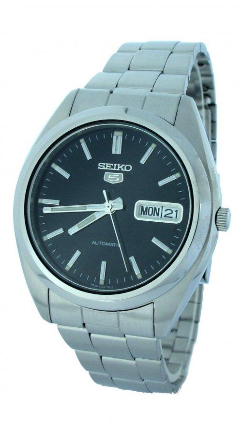 Αυτόματο ρολόι Seiko 5 με μπρασελέ και ημερομηνία SNX113K ... 8ffbaefcd5d
