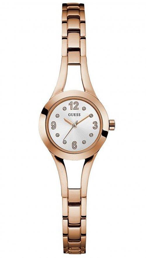 Ρολόι Guess με ροζ χρυσό μπρασελέ και κρύσταλλα W0912L3  7a054004f98