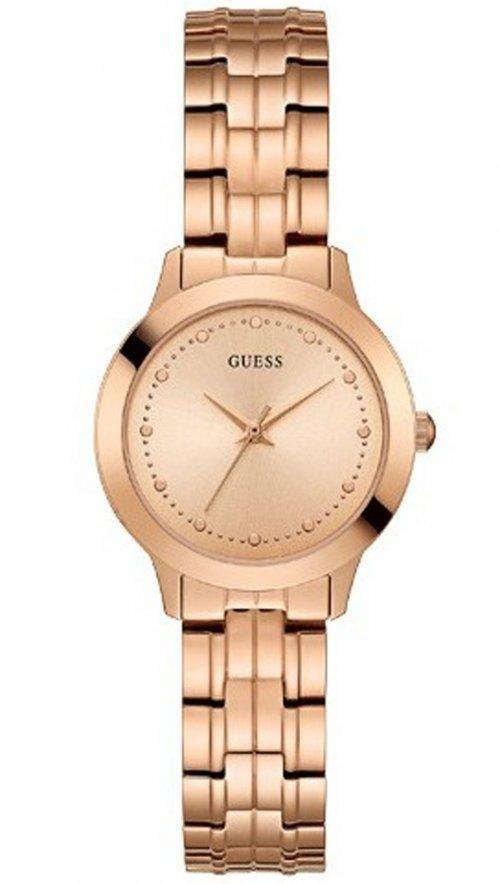 Ρολόι Guess με ροζ χρυσό μπρασελέ και καντράν W0989L3  4198451273f
