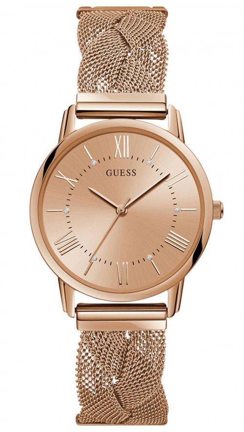 Ρολόι Guess με ροζ χρυσό μπρασελέ και καντράν W1143L3  57b56d3f67e