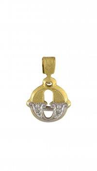 new -12% Watchmarket.gr Μονόγραμμα χρυσό 14 καράτια Θ με ζιργκόν 2046aefb23e