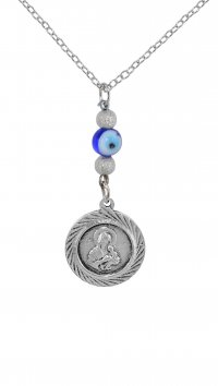 Watchmarket.gr Car pendant with Holy Mary and eye