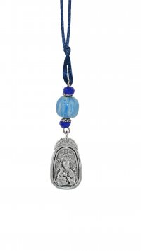 Watchmarket.gr Car pendant with Holy Mary and St Christofer