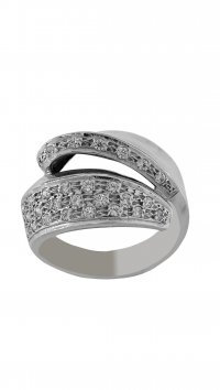 Watchmarket.gr Whitegold 14 carat ring with zircon
