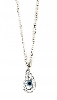 Watchmarket.gr Whitegold 14 carat necklace with eye