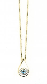 Watchmarket.gr Gold 14 carat necklace with eye