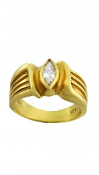 Watchmarket.gr Gold 14 carat ring with zircon