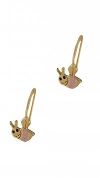 Watchmarket.gr Gold 14 carat earrings with bee
