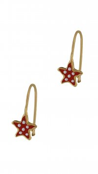 Watchmarket.gr Gold 14 carat earrings with starfish