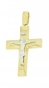 Watchmarket.gr Gold 14 carat cross with Christ