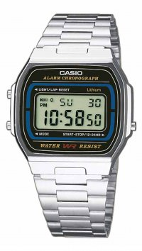 Casio Casio vintage steel digital watch A-164WA-1VES