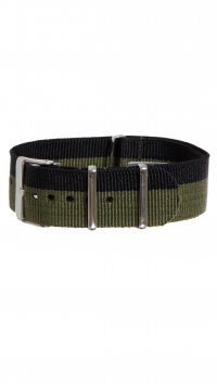 Watchmarket.gr Fabric black and khaki strap