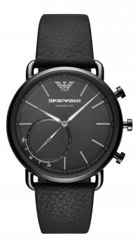 Emporio Armani Ρολόι Emporio Armani Connected Hybrid Smartwatch με μαύρο λουράκι ART3030