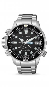 Citizen Ρολόι Citizen Aqualand Promaster Eco Drive με ασημί μπρασελέ BN2031-85E