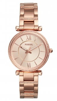 9843ce2e51 new -12% Fossil Ρολόι Fossil Carlie με ροζ χρυσό μπρασελέ και καντράν ES4301