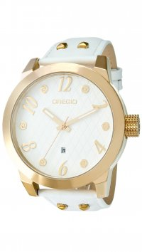 Gregio Gregio Overhang white watch with date GR105071