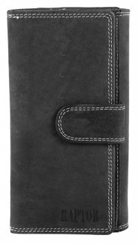 Raptor Raptor grey leather wallet 495611951007