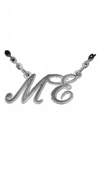 Personal Jewel Silver 925 necklace with double letter