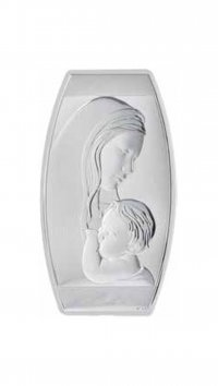 Watchmarket.gr Silver 925 Madonna and Christ 8,5x14cm