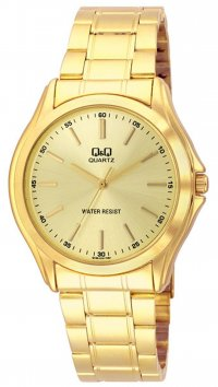 Q&Q Q&Q gold bracelet and dial watch Q158-010Y