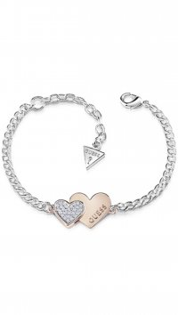 Guess Guess silver bracelet with heart and zircon UBB84125