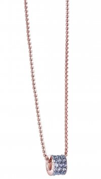 Guess Guess rosegold necklace with blue swarovski UBN71554