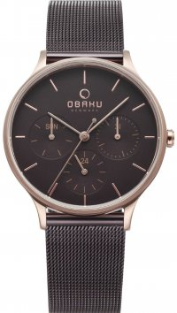 Obaku OBAKU Lind Walnut multifunction steel watch V212LMVNMN